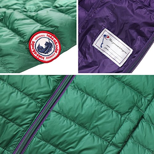 Rokka&Rolla Boys' Ultra Lightweight Hooded Packable Puffer Down Jacket (M (8), Verdant Green) by Rokka&Rolla (Image #5)