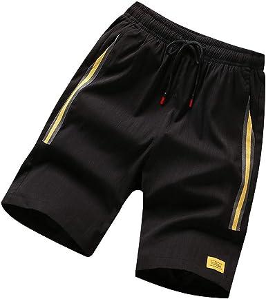 MAWOLY Pantalones Cortos de Deporte para Hombre, de algodón ...