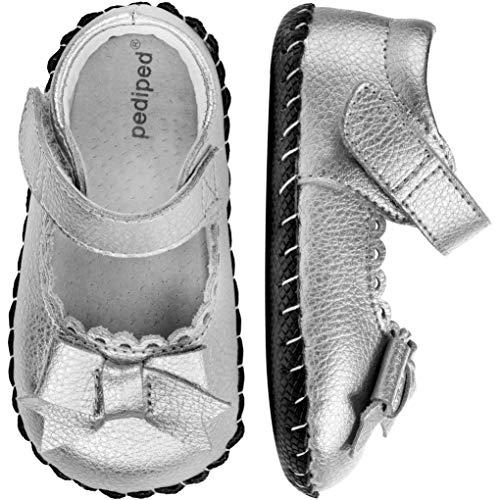 pediped Originals Betty Mary Jane (Infant),Silver,Medium (12-18 Months)