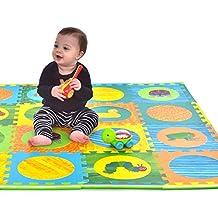 Hungry Caterpillar Baby Mat, Puzzle Mat, Baby Play Mat, Foam Mat, 20 Foam Floor Tiles, Foam Puzzle Mat, Non-Toxic, EVA Foam Mat, Girl & Boy, Infant Play Mat Baby Playmat 65'' x 52''