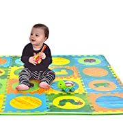 Hungry Caterpillar Baby Mat, Puzzle Mat, Baby Play Mat, Foam Mat, 20 Foam Floor Tiles, Foam Puzzle Mat, Non-Toxic, EVA Foam Mat, Girl & Boy, Infant Play Mat Baby Playmat 65'' x 52''