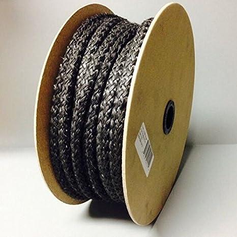 """25 m bobina 1 """"negro cuerda de fibra de vidrio Junta AW Perkins"""