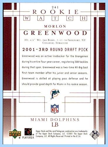 2001 Upper Deck #241 Morlon Greenwood RC ROOKIE MIAMI DOLPHINS