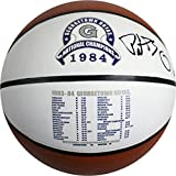 Patrick Ewing Signed Georgetown Hoyas 1984 National Champions Stat Logo Baden Basketball