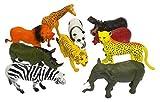 10 Pcs Large Zoo Animals - Lion, Tiger, Hippo, Elephant, Giraffe
