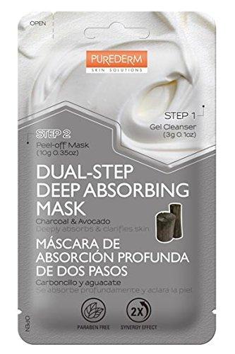 PUREDERM DUAL-STEP Deep Absorbing Facial Peel-Off Mask Pore Treatment