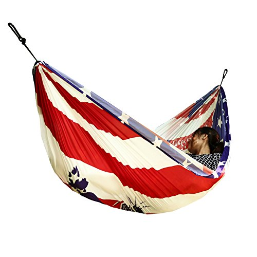 theBlueStone Single Camping Hammock For Outdoor Indoor Backpacking Hiking Traveling (the Statue of - 5 American Foot Garden Swing
