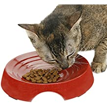 Eco Friendly Cat Bowls - Your Cat Deserves Ecologically Safe Pet Food Dish, Shallow Depth Prevents Whisker Stress & Acne For Happy Feline Feeding, Dishwasher Safe, 80% Bamboo, BPA FREE, Two Paws Up