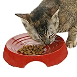 Eco Friendly Cat Bowls - Your Cat Deserves Ecologically Safe Pet Food Dish - Shallow Depth Prevents Whisker Stress & Acne For Happy Feline Feeding - Dishwasher Safe - 80% Bamboo - BPA FREE - Two Paws Up
