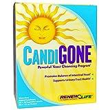 Renew Life, CandiGone, Powerful Yeast Cleansing Program, 60 Veggie Caps, 1 fl oz Tincture
