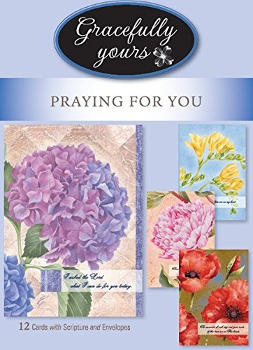 Amazon gracefully yours sympathy praying for you greeting gracefully yours sympathy praying for you greeting cards 12 4 designs3 each m4hsunfo