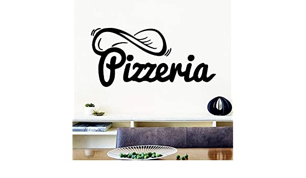 Cute Pizza Wall Stickers Frase para Pizza Store Decor Background ...