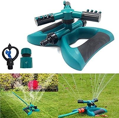 MUANI Césped de riego automático giratoria 360 Plantas de jardín del Sistema de irrigación de Agua Flor de Fugas 3 rociador: Amazon.es: Hogar
