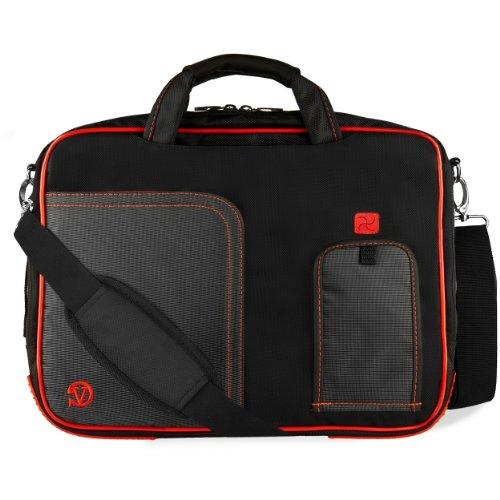 VanGoddy Red Trim Laptop Bag for Dell Latitude / Inspiron /