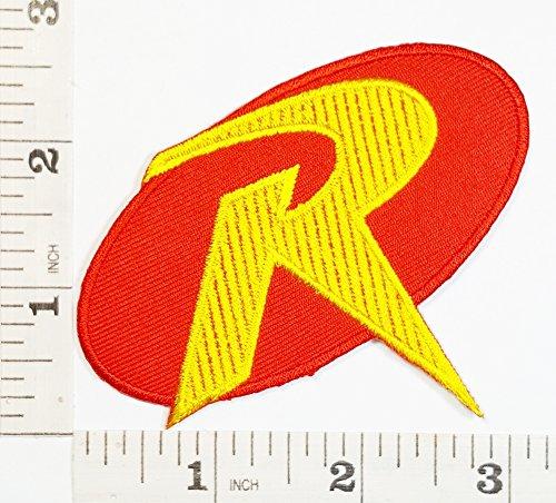 Robin&Batman logo Blak&Yellow logo DC Logo Movie patch Superhero patch Symbol Jacket T-shirt Patch Sew Iron on Embroidered Sign Badge (Hot Robin Costume)