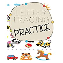 """Letter Tracing Practice: Letter Tracing Practice Book For Preschoolers, Kindergarten (Printing For Kids Ages 3-5)(5/8"""" Lines, Dashed)"""