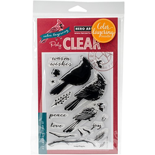 Hero Arts SB118 Cardinal Clear Stamp & Die Combo-Cardinal by Hero Arts