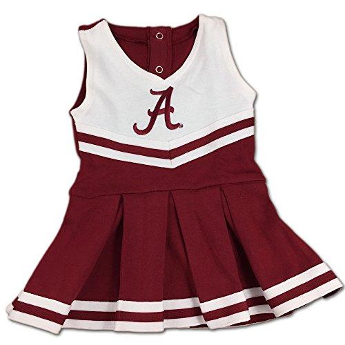 [University of Alabama Crimson Tide Cheerleader Bodysuit Dress] (Cheerleader Kids Outfit)
