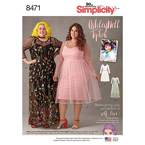 Amazon.com: Simplicity Creative Patterns US8471F5 Sewing Pattern Tipton Dresses 18W