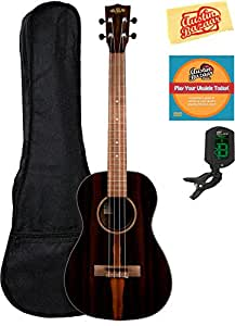 Kala KA-ZCT-B Ziricote Baritone Ukulele Bundle with Gig Bag, Tuner, Austin Bazaar Instructional DVD, and Polishing Cloth