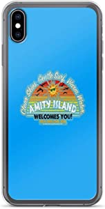 iPhone X Case iPhone Xs Case Cases Clear Anti-Scratch Amity Island, Amity Cover Case for iPhone X/iPhone Xs, Crystal Clear
