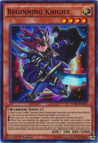 Yu-Gi-Oh! - Beginning Knight (MP16-EN123) - Mega Pack 2016 - 1st Edition - Super Rare (Yugioh Black Luster Soldier Envoy Of The Twilight)
