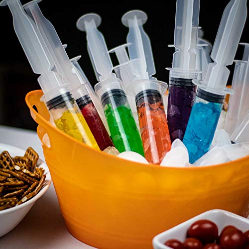 Party Shots 50 Pack Jello Shot Syringes (Plus 50 Delicious Jello Shot  Recipe E-Book) Use To Make Tasty 1 5 Ounce Syringe Shots, Reusable Perfect  for