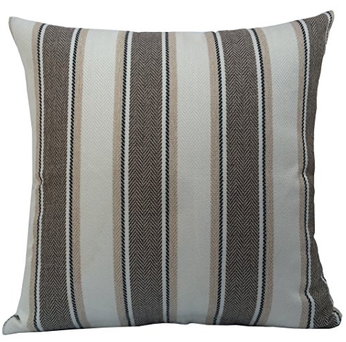 BLUETTEK Cool Stripe Pillow Cases Cotton Linen Square Decorative Throw Cushion Cover-18