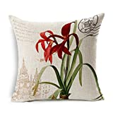 ME COO Modern Fashion Watercolor Perfume Lipstick Bottle Flower Styles Pillow Case Throw Cushion Case Cojines Wedding Gift pillow covers 18 x 18Inches 1pcs