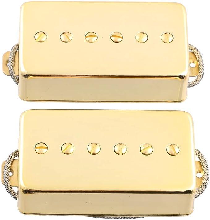 Gold handgewickelt Vintage 60s Alnico V P90 Pick Up Set im Humbucker Format