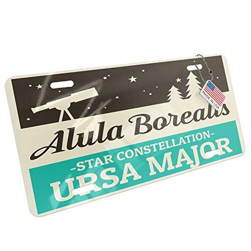 Metal License Plate Star Constellation Name Ursa Major - Alula Borealisï¾ - (Ursa Metal)