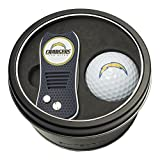 Team Golf NFL San Diego Chargers Gift Set Switchblade Divot Tool with Double-Sided Magnetic Ball Marker & Golf Ball, Patented Single Prong Design, Less Damage to Greens, Switchblade Mechanism