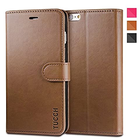 iPhone 6s Plus Case, TUCCH Wallet Leather Case for iPhone 6s / 6 Plus (5.5 inch), Slim Flip Folio Cases Book Cover with Credit Card Slots, Stand Holder, Magnet Closure, (Iphone6 Plus Case Card Holder)