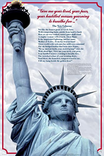Lady Liberty Educational History Teacher Classroom Chart Print Poster 24x36