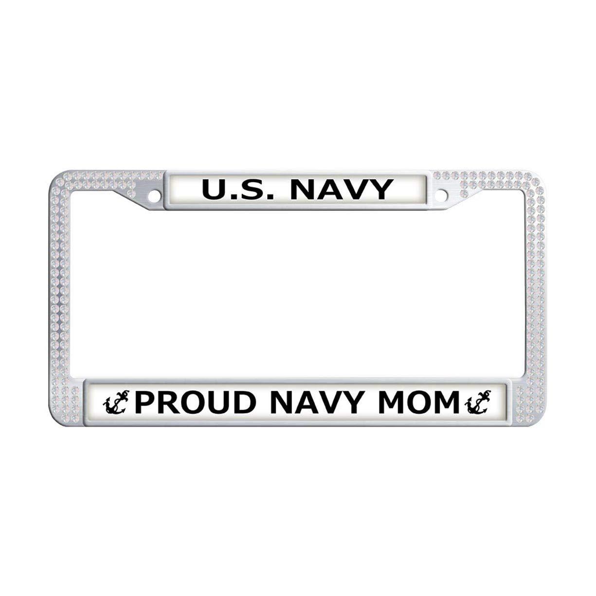 12a7e205cbd6 Amazon.com  FukongCase U.S. Navy Proud Navy MOM License Plate Frame ...