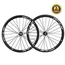 ICAN Road Bike Disc Brake Wheelset Carbon Fiber 38mm Depth 28 Holes Tubular Rim Shimano or Sram XD Driver 10/11 Speed