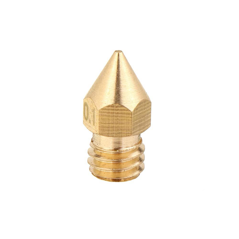ExcLent 5Pcs 1.75Mm//0.1Mm Copper Mk8 Thread Extruder Nozzle for 3D Printer