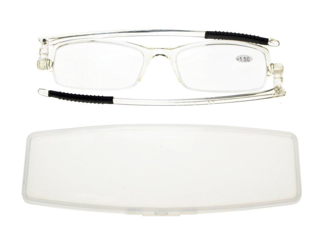 Cornice Blu, 1.25 Eyekepper 360/° occhiali da vista templi pieghevole con donne uomini cassa trasparente