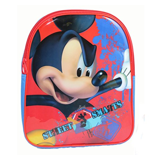 Disney Mickey Mouse Childrens/Kids Street Smarts Backpack/Rucksack (One Size) (Blue/Red)