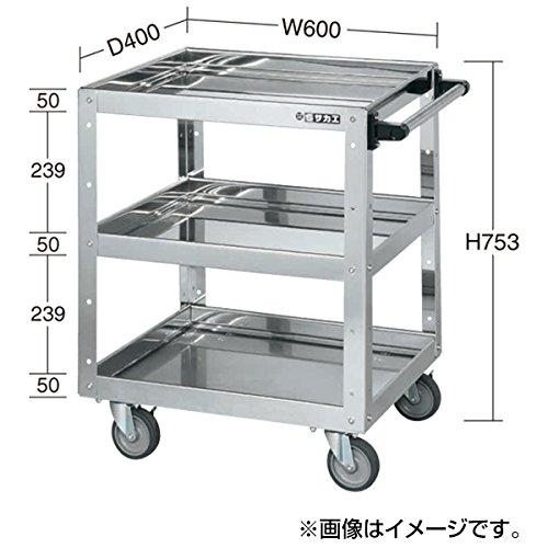 サカエ ステンレスニューCSスーパーワゴン CSWA-607SU4E B06X3SHKDN