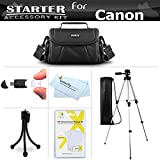 Starter Accessories Kit For The Canon Powershot SX400 IS, SX410 IS, SX420 IS Digital Camera Includes Deluxe Carrying Case + 50