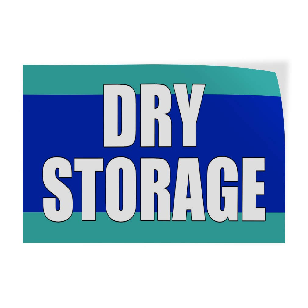 Decal Sticker Multiple Sizes Dry Storage Blue Business Dry Storage Outdoor Store Sign Blue 54inx36in Set of 2