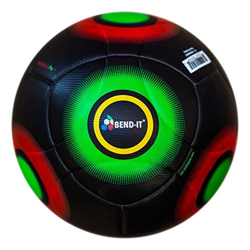 Bend-It Soccer Balls with VPM and VRC Technology, Size 5 - Knuckle-It Pro Black, Thermal Welded