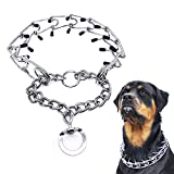 Mayerzon Dog Prong Collar, Classic Stainless Steel Choke Pinch Dog Chain Collar Comfort Tips, 5 (L-21.7'')