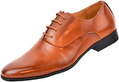 Zapatos Oxford Hombre con Cordones para Vestir de Negocios Boda Traje Formal