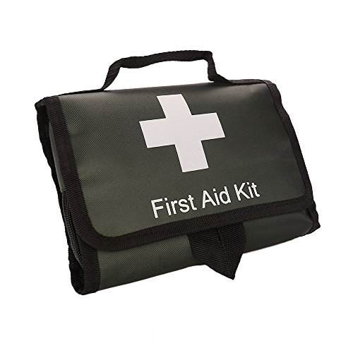 SadoMedcare First Aid Kit Auto, Be Always Prepared and Ready to Use in Your Car, 100 pieces Medical Kit, Travel Emergency Kit, Hiking First Aid Kit, Emergency Survival Go Bag family