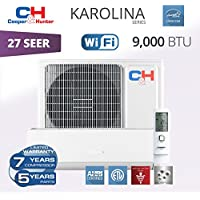 Cooper & Hunter Karolina Wi-Fi Energy Star Ductless Mini Split Air Conditioner up to 27 SEER (9,000 BTU, 230V)