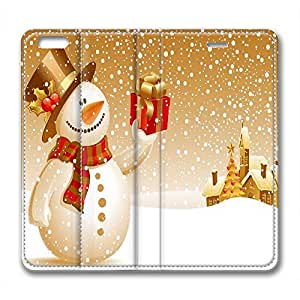 DIY Christmas Gift Iphone 6 Plus Leather Case Golden