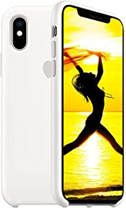 Designed for iPhone XR Case, Compatible with iPhone XR Silicone Case, Liquid Silicone Gel Rubber Protection Shockproof Drop Protection Phone Case for iPhone XR 6.1 inch, White