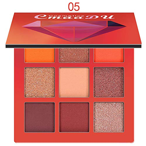 Wensy 9 Color Diamond Light Eye Shadow Tray Matte Eyeshadow Makeup Eye Shadow Palettes Natural Colors Makeup -
